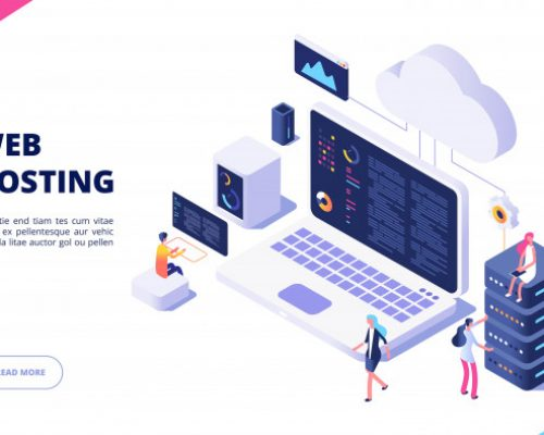 web-hosting-concept-cloud-computing-online-database-technology-security-computer-web-data-center-server-isometric-landing-page_53562-10529